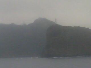 小笠原は曇り