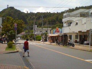 父島のメインストリート